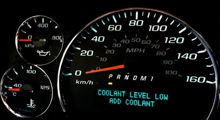 BMW Coolant Level Low Warning Light